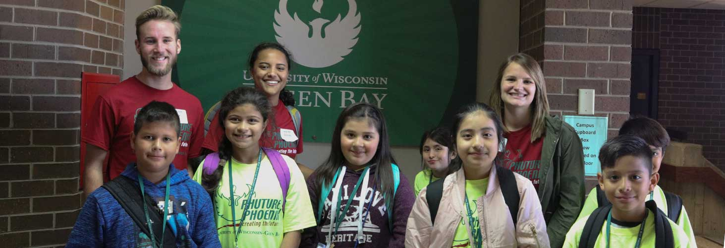 UWGB education students with Phuture Phoenix