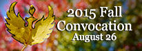 2015 Fall Convocation