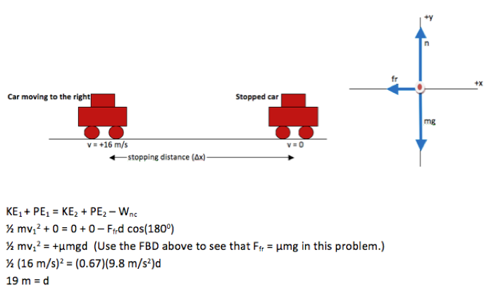 Multi-part Force Problem  Stopping Distance - Physics