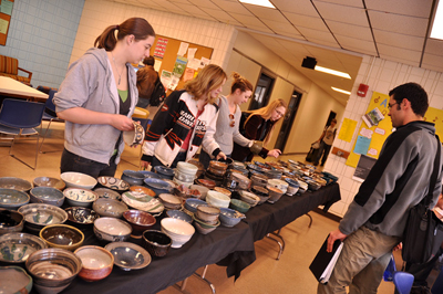 Slideshow: Donor/diners enjoy Art Agency's 'Empty Bowls' lunch