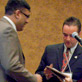 Conference Chair Gaurav Bansal thanks Mayor Schmitt, 7th annual MWAIS Conference, May 2012