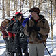UW-Green Bay Mammalogy Class, mammal tracking, Wabikon Forest Dynamics Plot, Crandon, March 2013