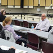 Jim Sinegal, retired Costco CEO, talks to UW-Green Bay students, March 27, 2014