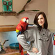 Alumna Jamie Kosloski, founder and director of Kingdom Animalia Exotic Animal Rescue, January 2015