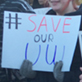 Students and alumni rally to oppose budget cuts to UW System, University Union, March 4, 2015