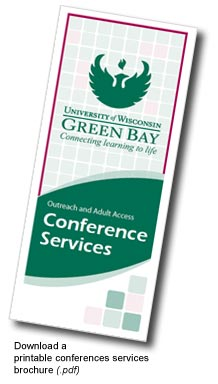 UW-Green Bay Conference Services Brochure