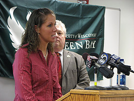 Brooke Borchert speaking about VITA - Press Conference, April 10, 2008