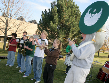 Photo: Members of the Phoenix Pep Band.