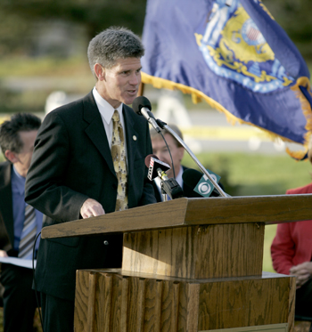 Photo: Steve Swan, assistant chancellor for University Advancement, served as emcee.