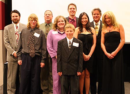 Photo: Paul Linzmeyer, pictured with family and friends, at the Distinguished Alumni Award reception.