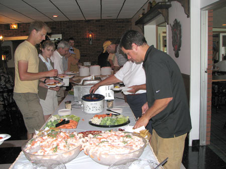 Photo: Alumni golf outing appetizer buffet.