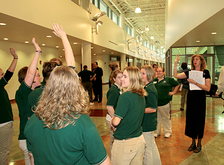 Photo: Student volunteers assisted hundreds of community donors on tours.