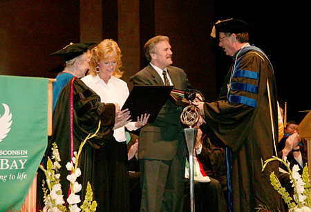 Photo: 2007 spring commencement ceremonies at UW-Green Bay.