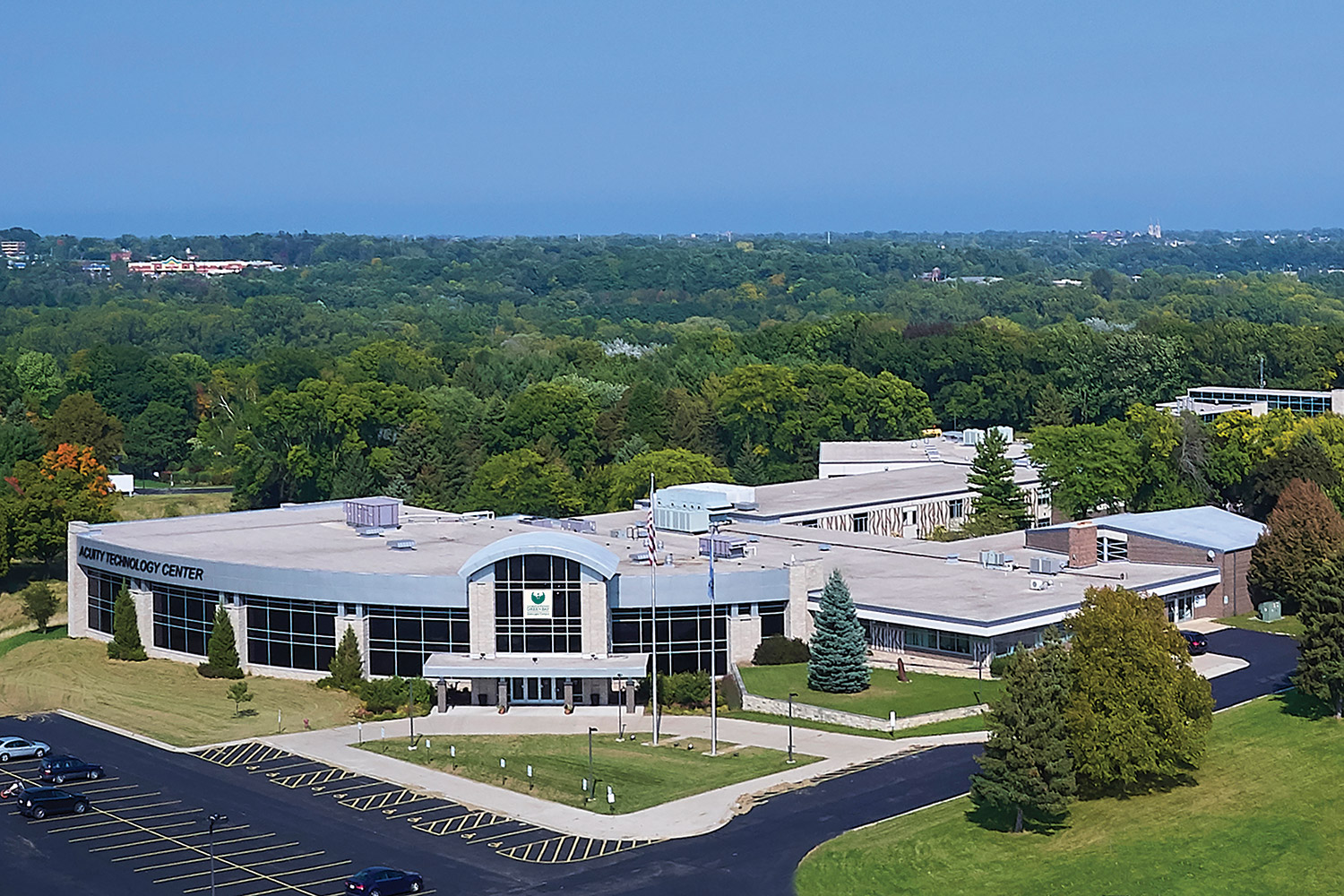 Aerial photo of Sheboygan Campus