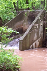 Storm sewer outfall to Mahon Creek
