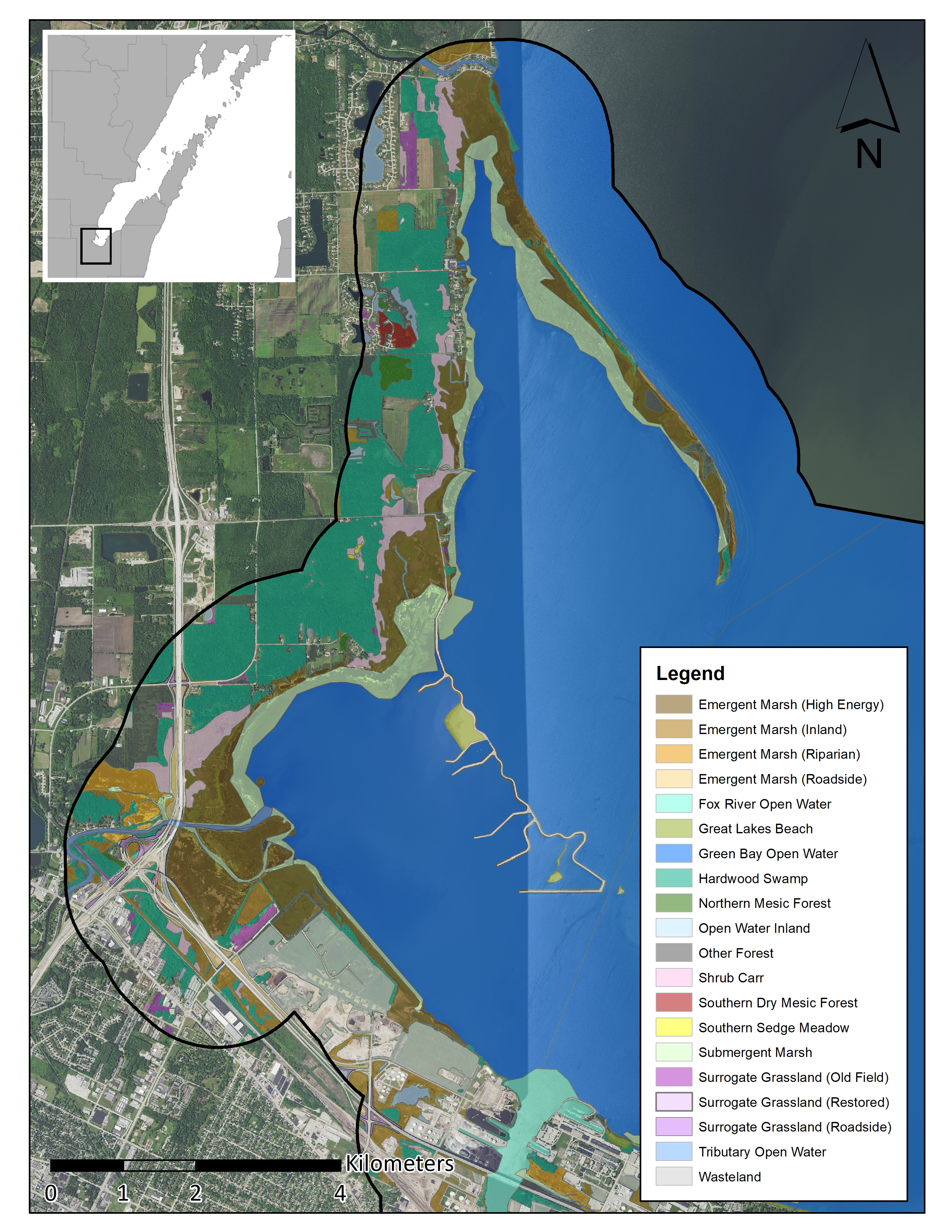 Maps Fish Wildlife Habitats Green Bay Area Of Concern Uw Green Bay Weekday & saturday service sunday serviceweekday & saturday service mapsunday service map. maps fish wildlife habitats green