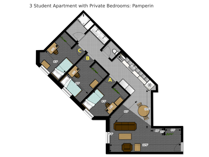 Floor Plans Housing Options Housing And Residential Education Uw Green Bay
