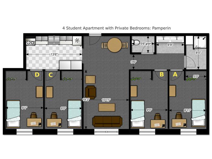 Floor Plans Housing Options Housing Uw Green Bay,Free Home Plumbing Design Software