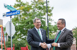 Go Green! Broadway and Hubbard is now 'Phoenix Way'