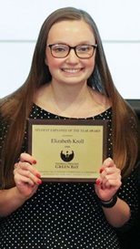 Lizzy Kroll, 2016 Student Employee of the Year